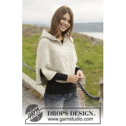 Image of   Autumn stroll by drops design s-xxxl drops alaska garn poncho