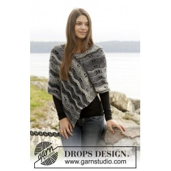 Image of   Better days by drops design s-xxxl drops big delight garn poncho