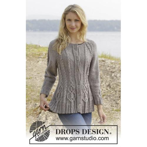Alana Cardigan by DROPS Design S-XXL DROPS KARISMA