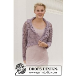 Image of   Lila sun by drops design s-xxxl drops big merino garn cardigan