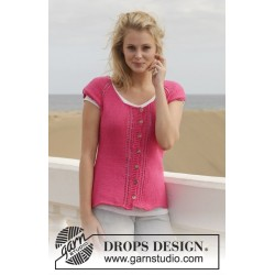 Image of   Framboise by drops design s-xxxl drops cotton light garn cardigan