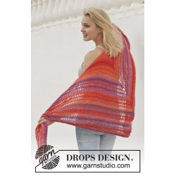 Image of   Tequila sunrise by drops design one-size drops big delight garn sjal