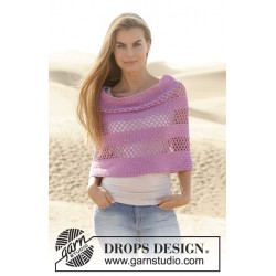 Image of   Orchidea by drops design s-xxxl drops cotton light garn poncho