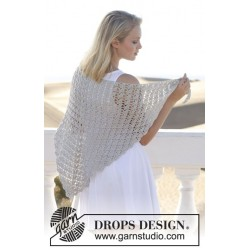 Image of   Forget me knot by drops design one-size drops cotton viscose garn sjal