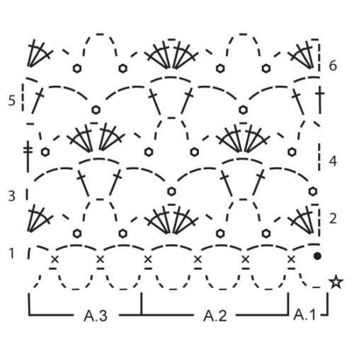Day Dreaming by DROPS Design Bredde: 8½ cm, Længde: 18 cm DROPS COTTON VISCOSE