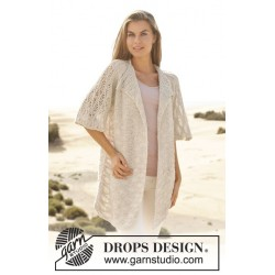 Love at first sight by drops design drops bomull-lin garn cardigan