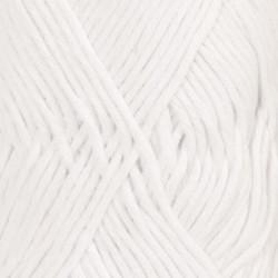 Drops Cotton Light UNI farve 02 hvid