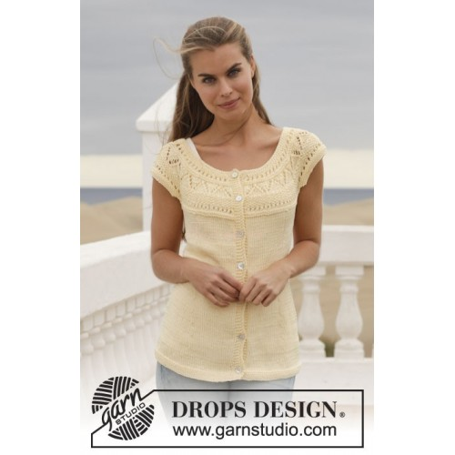 Sunny Side Cardigan by DROPS Design S-XXXL DROPS MUSKAT
