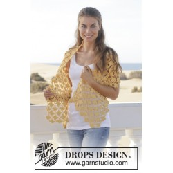 Image of   Sunflower by drops design one-size drops muskat garn sjal