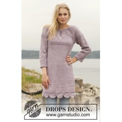 Orchid Bloom by DROPS Design S-XXXL DROPS BIG MERINO