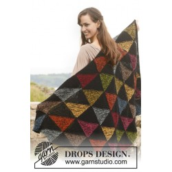Harlequin by drops design one-size drops alpaca garn drops 151 kit