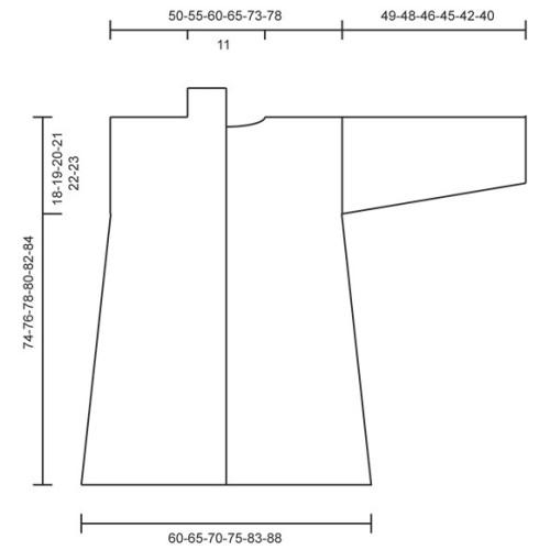 Gladiola by DROPS Design S-XXXL DROPS LIMA