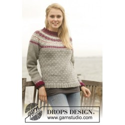 September sweater by drops design s-xxxl drops lima garn bluse