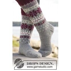 September Socks by DROPS Design 35-43 DROPS LIMA