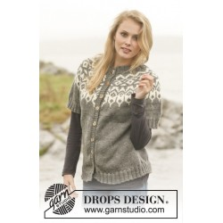 Image of   Arctic circle jacket by drops design s-xxxl drops nepal garn cardigan