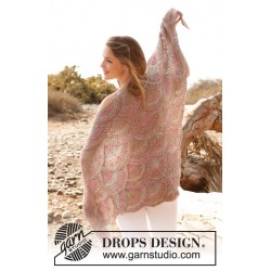 Image of   Soft mermaid by drops design one-size drops fabel garn sjal
