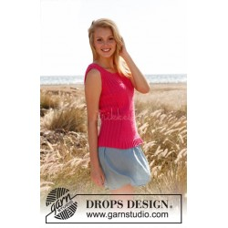 Pretty pink by DROPS Design S-XXXL DROPS COTTON LIGHT