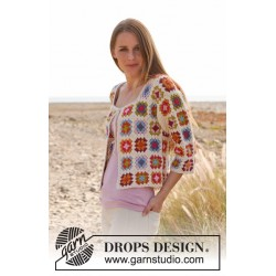Summer patchwork by drops design xs-xxxl drops alpaca garn cardigan