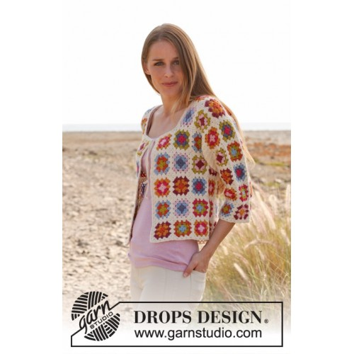 Summer patchwork by DROPS Design XS-XXXL DROPS ALPACA