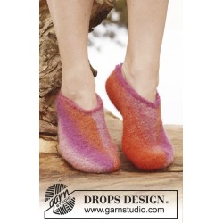 Sandra by drops design 35-44 drops big delight garn strømper og sutsko