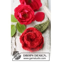 Pink rose by DROPS Design One-size DROPS NEPAL