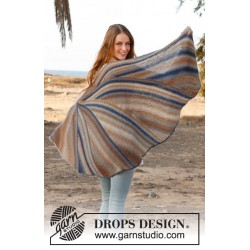 Image of   Jay bird by drops design one-size drops delight garn sjal