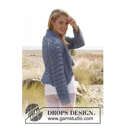 Image of   Dana by drops design s-xxxl drops paris garn strikkekits cardiganer
