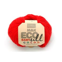 M&K ECO Baby Ull Color Rød, 187