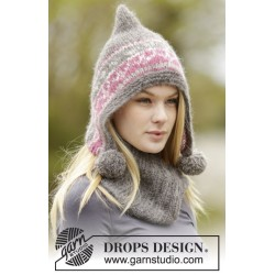 Image of   Sweet winter hat by drops design one-size drops melody garn
