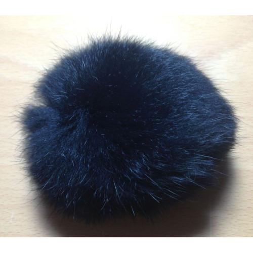 Pompon kanin kvast sort 10 cm