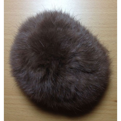 Pompom kanin kvast brun 10 cm