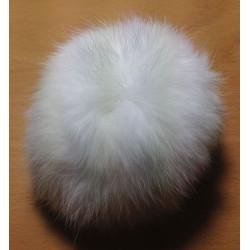 Pompon kanin hvid 10 cm