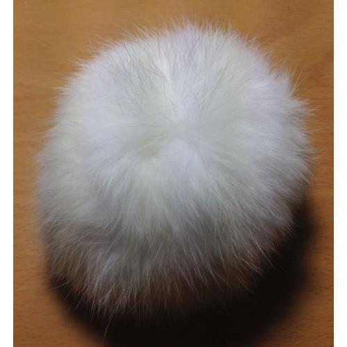 Pompom kanin kvast hvid 10 cm