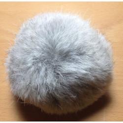 Pompom kanin kvast grå 10 cm