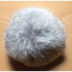 Pompon kanin grå 10 cm