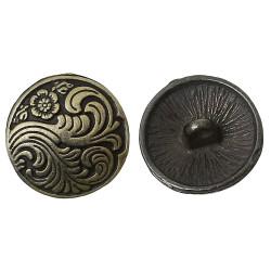 Pose med 5 metal knapper antik bronze, 17mm