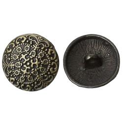 Pose med 5 metal knapper antik bronze, mønster 17mm