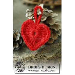 Heart of the Season by DROPS Design ca 5 cm bredt DROPS KARISMA