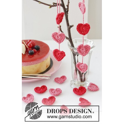 Sweet Valentine by DROPS Design ca 3,5 cm bredt DROPS COTTON MERINO