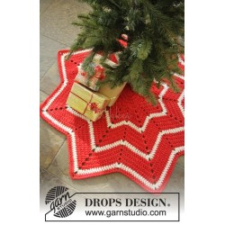 Under the Christmas Tree by DROPS Design ca 95 cm i diameter. DROPS ESKIMO