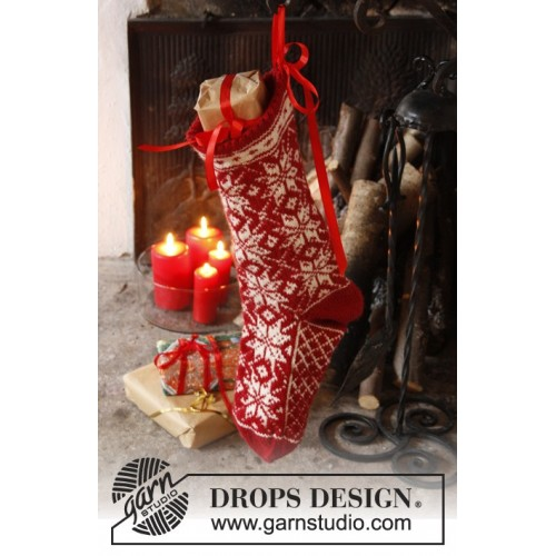 Mr. Kringle's Stocking by DROPS Design One-size DROPS KARISMA