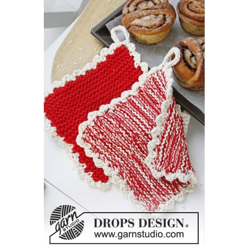 Peppermint Candy by DROPS Design ca 21 x 21 cm DROPS PARIS