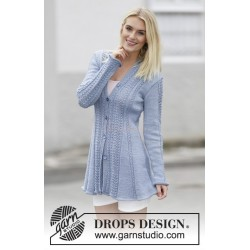 Blue Bird Song by DROPS Design S-XXXL DROPS BELLE