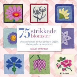 75 strikkede blomster - Lesley Stanfield bog