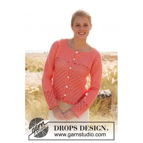 Peach blossom by DROPS Design S-XXXL DROPS SAFRAN