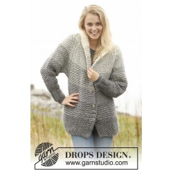 Image of   Grey sunset jacket by drops design s-xxxl drops eskimo garn cardigan