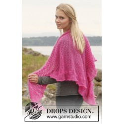 Image of   Madeleine by drops design one-size drops kid-silk garn drops sjaler