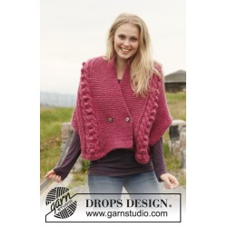 Image of   Bouton de rose by drops design s-xxxl drops andes garn cardigan