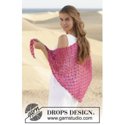 Rose Fields by DROPS Design 165 x 60cm DROPS MERINO EXTRA FINE