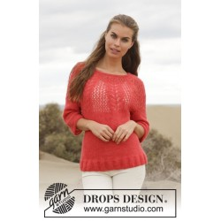 Image of   Cheryl by drops design s-xxxl drops brushed alpaca silk garn bluse